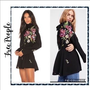 Free People black floral top/dress
